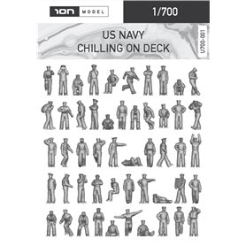 ION MODEL 1:700 Figurki US NAVY CHILLING ON DECK - 92szt.