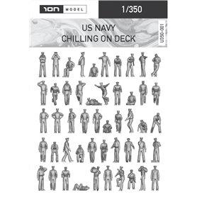 ION MODEL 1:350 Figurki US NAVY - CHILLING ON DECK - 74szt.