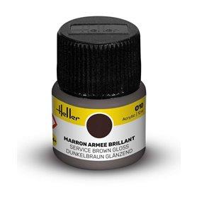 Farba akrylowa Heller 010 Service Brown Gloss 12 ml
