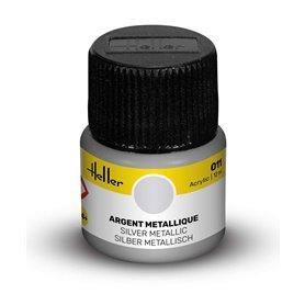 Farba akrylowa Heller 011 Silver Metallic 12 ml