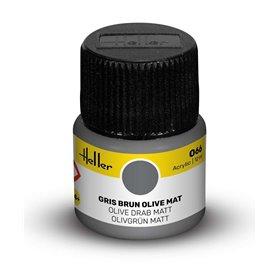 Farba akrylowa Heller 066 Olive Drab Matt 12 ml