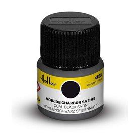 Farba akrylowa Heller 085 Coal Black Satin 12 ml