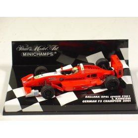 MINICHAMPS 1:43 Dallara Opel Spiess F301 T.Kaneishi German F3 Champion 2001