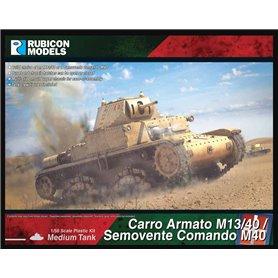Rubicon Models 1:56 Carro Armato M13/40 / Semovente Comando M40