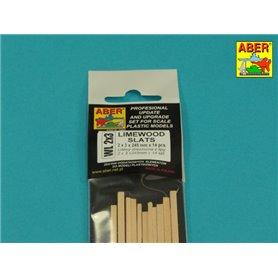 Aber WL 2X3 Listwy drewniane z lipy 2x3x245mm x 14szt