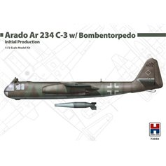 Hobby 2000 1:72 Arado Ar-234 C-3 W/Bombentorpedo - INITIAL PRODUCTION