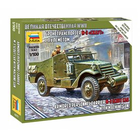Zvezda 6273 Armored Personnel Carrier M-3 Scout Car with Machine Gun