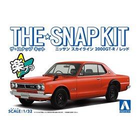 Aoshima 1:32 NISSAN SKYLINE 2000 GT-R 1969 Red Snapkit
