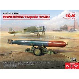ICM 48405 WWII British Torpedo Trailer (100% new molds)