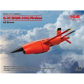 ICM 48403 Q-2C (BQM-34A) Firebee, US Drone (2 airplanes and pilons) (100% new molds)