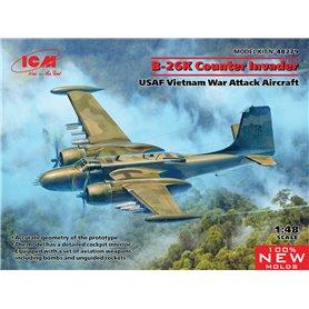 ICM 48279 B-26K Counter Invader, USAF Vietnam War Attack Aircraft