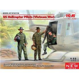ICM 32114 US Helicopter Pilots (Vietnam War) (100% new molds)