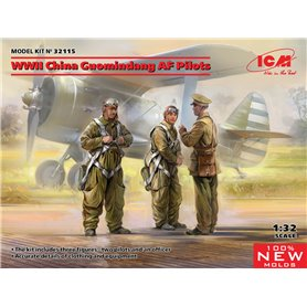 ICM 32115 WWII China Guomindang AF Pilots (100% new molds)