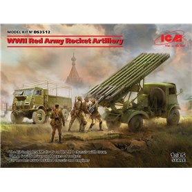 ICM DS3512 WWII Red Army Rocket Artillery (BM-13-16 on W.O.T. 8 chassis, Model W.O.T. 6, WWII Soviet BM-13-16 MLRS Vehicle Crew,