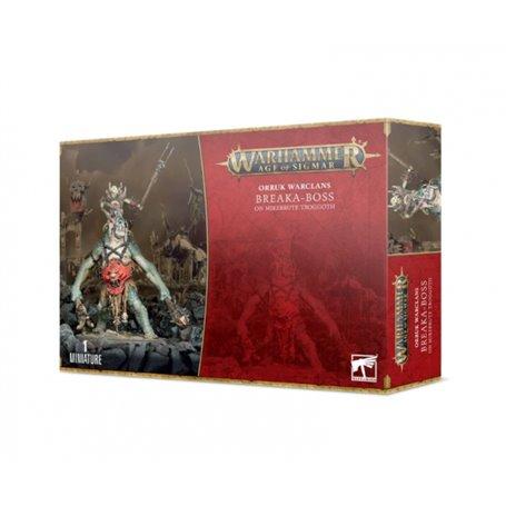 Warhammer AGE OF SIGMAR Breaka-Boss On Mirebrute Troggoth