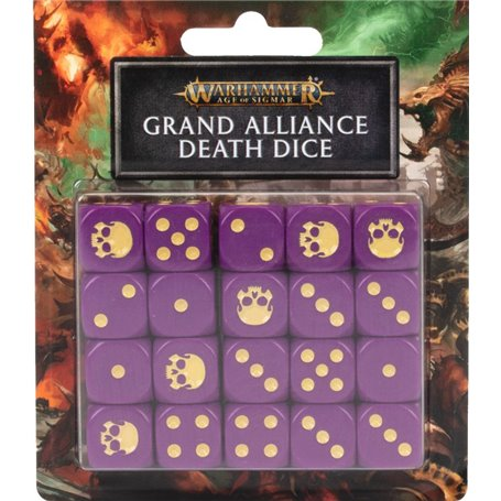 Warhammer AGE OF SIGMAR Grand Alliance Death Dice Set