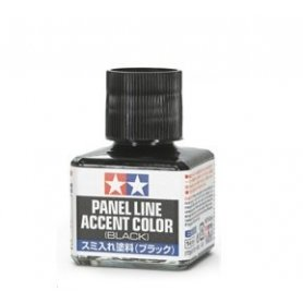 Tamiya 87131 WASH PANEL ACCENT Wash Black - 40ml