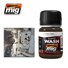 Ammo of MIG Enamel Wash BROWN WASH FOR GERMAN DARK YELLOW
