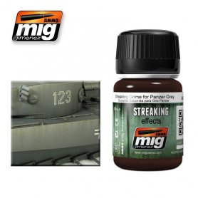 Ammo of MIG Enamel Streaking Effect STREAKING GRIME FOR PANZER GREY