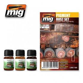 Ammo of MIG Zestaw PIGMENT RUST SET