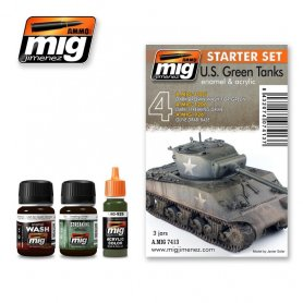 Ammo of MIG Zestaw US GREEN VEHICLES SET - STARTER SET