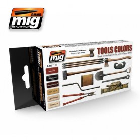 Ammo of MIG Zestaw farb TOOLS COLORS SET