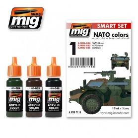 Ammo of MIG Zestaw farb NATO COLOR SET - SMART ACRYLIC SET