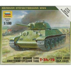 Zvezda 1:100 T-34-76 model 1940