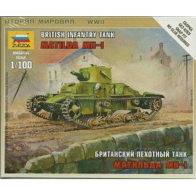 ZVEZDA 1:100 Matilda Mk-I