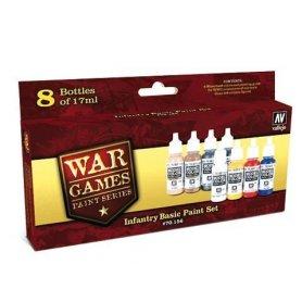 Vallejo War Games Paint Series - Infantry Basic Paint Set