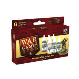 Vallejo War Games German SS Paint Set