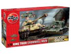Airfix 1:76 Pz.Kpfw.VI King Tiger and Cromwell Mk.IV | w/paints |