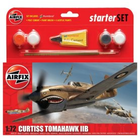 Airfix 1:72 Curtiss Tomahawk IIB | Starter Set | w/paints |