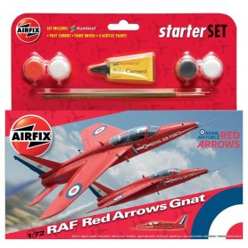 Airfix 1:72 RAF Red Arrows Gnat - STARTER SET - w/paints