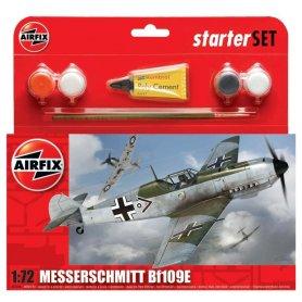 Airfix 1:72 Messerschmitt Bf-109 E-3 | Starter Set | w/paints |