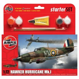 Airfix 1:72 Hawker Hurricane Mk.I - STARTER SET - w/paints