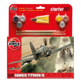 Airfix 1:72 Hawker Typhoon Mk.Ib - STARTER SET - w/paints