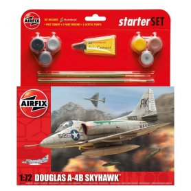 Airfix 1:72 Douglas A4-B Skyhawk - STARTER SET - w/paints