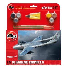 Airfix 1:72 De Havilland Vampire T11 Starter Set