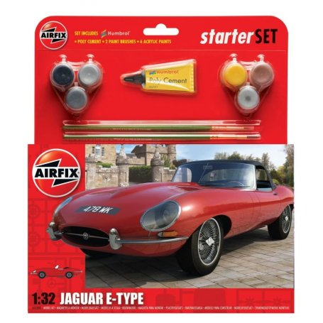 Airfix 1:32 Jaguar E-Type - STARTER SET - w/paints