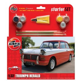 Airfix 1:32 Triumph Herald - STARTER SET - z farbami