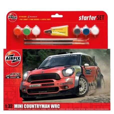 Airfix 1:32 Mini Countryman WRC   Starter Set   w/paints  