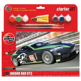 Airfix 1:32 Jaguar XKRGT FANTASY SCHEME | Starter Set | w/paints |