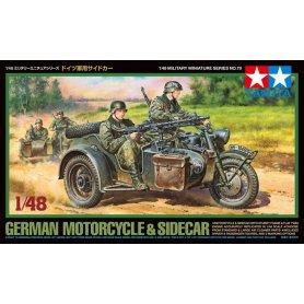 Tamiya 1:48 German Bike and Sidecar