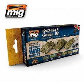 Ammo of MIG Zestaw farb Wargame 1943-1945 German