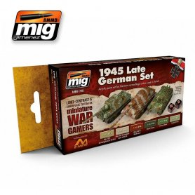 Ammo of MIG Zestaw farb Wargame 1945 Late German