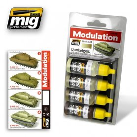 Ammo of MIG Zestaw farb Modulation Set Dunkelgelb