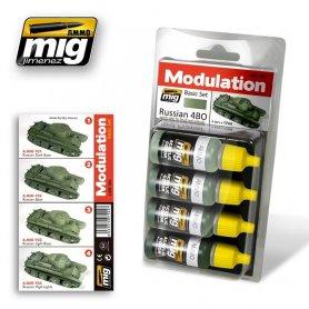 Ammo of MIG Zestaw farb Modulation Set Russian 4BO