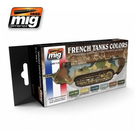 Ammo of MIG Zestaw farb French Camouflage WWI and WWII