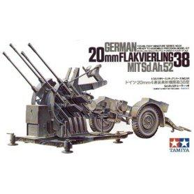 Tamiya 1:35 Anti-aircraft gun 20mm Flakvierling 38